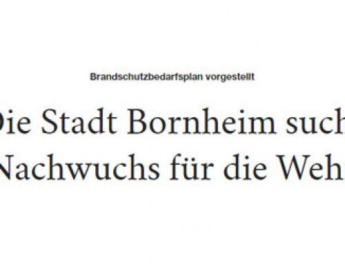 Brandschutzbedarfsplan Stadt Bornheim verabschiedet