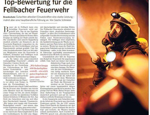 Top-Bewertung für die Fellbacher Feuerwehr