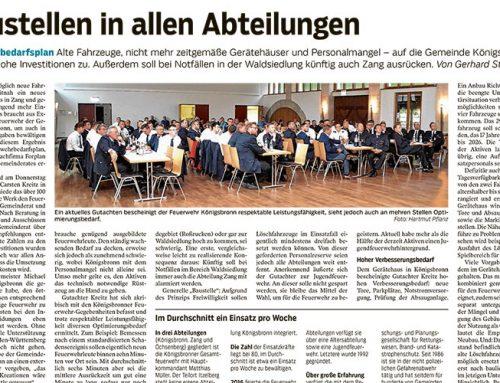 Feuerwehrbedarfsplan für Gemeinde in Königsbronn