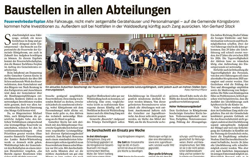 Feuerwehrbedarfsplan für Gemeinde in Königsbronn-Teaser