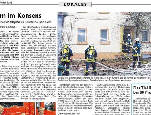 Leutershausen verabschiedet Feuerwehrbedarfsplan der Forplan GmbH