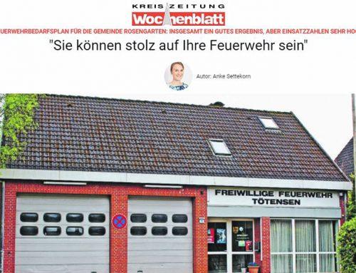 Feuerwehrbedarfsplan der Forplan GmbH für die Gemeinde Rosengarten vorgestellt
