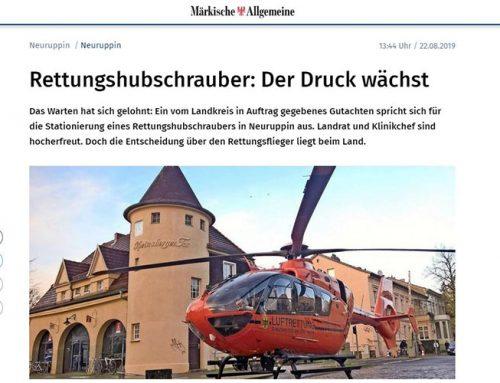 Stationierung eines Rettungshubschraubers in Neuruppin
