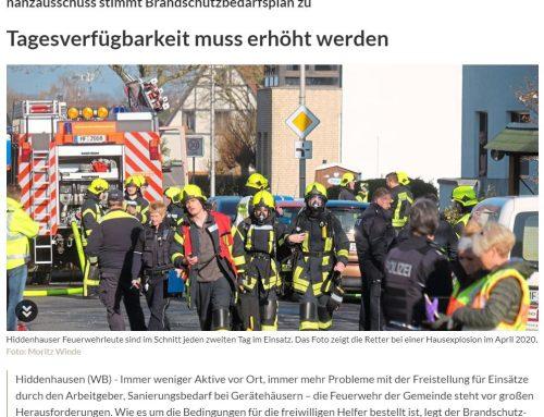 Brandschutzbedarfsplan der Forplan GmbH für die Gemeinde Hiddenhausen verabschiedet